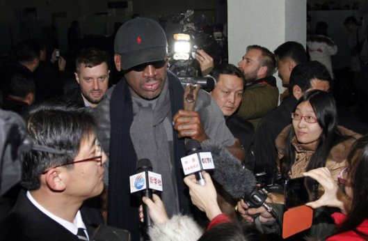 Dennis Rodman Arrives in North Korea. Should the U.S. send in the drones now?